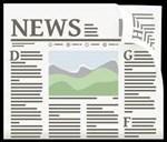Newspaper clipart